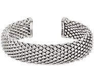 As Is Bronze Faceted Cuff Bracelet by Bronzo Italia - J334591