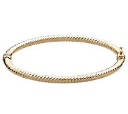 EternaGold 8 Round Ribbed Bangle Bracelet, 14KGold, 4.8g - J336291