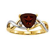 Choice of Gemstone Two-Tone Trillion-Cut Ring,14K Gold - J336791