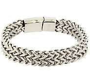 Steel by Design Mens Stainless Steel Franco Style Bracelet - J337591
