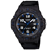 Casio Mens Black and Blue-Accented Analog Sport Watch - J339291