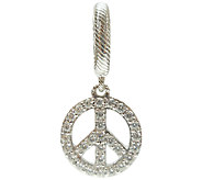 Judith Ripka Sterling with White Diamonique Peace Charm - J340191
