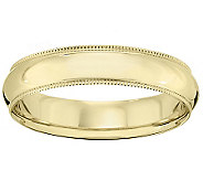18K Gold 5mm Milgrain Comfort Fit Wedding Bandring - J340291