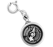 Sterling Silver Compass with Movable Needle Charm - J344191