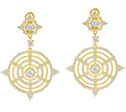 Judith Ripka Sterling/14K Clad Diamonique Multi Circle Earrings - J346791