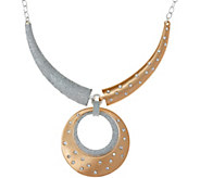 Joan Rivers Two Tone Medallion 18 Necklace w/ 3 Extender - J347591