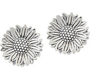 JAI Sterling Silver Olives Sunflower Earrings - J352991