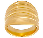 Oro Nuovo Bold Ribbed Ring, 14K Gold - J353491