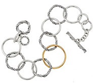 As Is Peter Thomas Roth Sterling & 18K Signature Mixed Link Bracelet - J355491