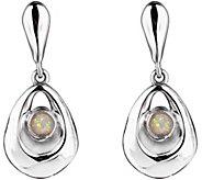 Hagit Sterling Silver Opal Dangle Earrings - J375591