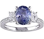 2.00 ct Tanzanite & 1/2 cttw Diamond Ring, 14K - J376091