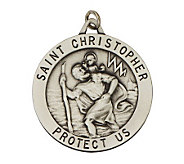 Sterling Large Saint Christopher Medal - J108292