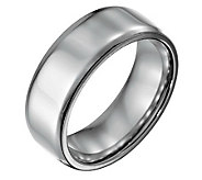 Forza Mens 8mm Steel w/ Beveled EdgePolished Ring - J109492