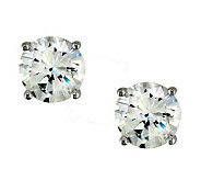 Diamonique 5 cttw Round Stud Earrings, Platinum Clad - J112292