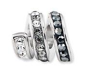 Prerogatives Sterling Black Crystal Spiral Bead - J113192