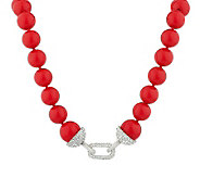 Kenneth Jay Lanes 18-3/4 Pave Link Bead Necklace - J273992