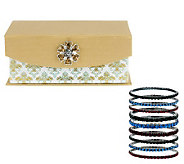Susan Graver Set of 9 Stretch Bracelets - J283492