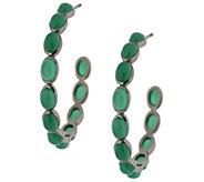 Emily & Ashley Sterling 1-1/2 Gemstone Cabochon Hoop Earrings - J289192