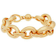 Bold Polished 7-1/4 Rolo Link Bracelet, 14K - J289292