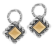 JAI Sterling & 14K Trellis Earring Charms - J292992