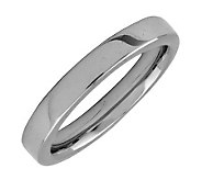 Simply Stacks Sterling Black Rhodium-Plated 3.25mm Smooth Ring - J298092