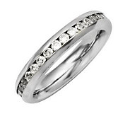 Stainless Steel Birthstone Eternity Band Ring - J310692