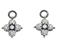 Barbara Bixby Sterling White Topaz Earring Drops - J311792