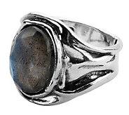Or Paz Sterling Oval Labradorite Ring - J311992