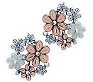 Carolyn Pollack Mixed Metal Blushing Joy Earrings - J313092