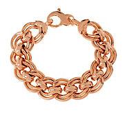 Bronzo Italia 7-1/4 Bold Fancy Double Curb Link Bracelet - J313792
