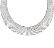 Vicenza Silver Sterling 16 Bold Graduated Cleopatra Omega Necklace, 37.8g - J317292