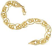 14K Gold 6-3/4 Love Knot Oval Link Bracelet, 3.4g - J317692