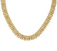 14K Gold 18 Bold Mirror Byzantine Necklace, 31.5g - J319492