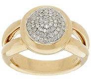 14K Gold 1/4 cttw Round Pave Diamond Ring - J319592