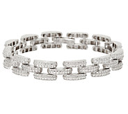 Sterling Silver 8 Diamond Cut Bracelet by Silver Style - J320992