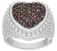 Bold Textured Domed Heart Diamond Ring, Sterling 8/10ct tw, by Affinity - J321392