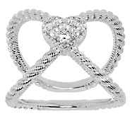 Judith Ripka Sterling Diamonique X Ring - J322592