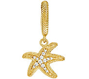 Judith Ripka Sterling & 14K Clad Starfish Charm - J323392