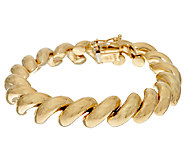 14K Gold 8 Polished San Marco Bracelet, 16.0g - J324292