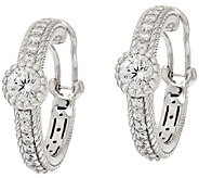 Judith Ripka Sterling Diamonique 2.75 cttw Hoop Earrings - J324392
