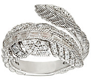 Judith Ripka Sterling 1.15 cttw Diamonique Feather Ring - J325192