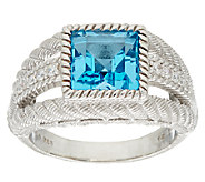 Judith Ripka Sterling Gemstone Ring - J325292
