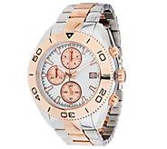 As Is Bronzo Italia & Steel Two-Tone Round Chronograph Bracelet Watch - J327192