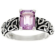 As Is Solvar Sterling Silver Gemstone Trinity Knot Ring - J332492