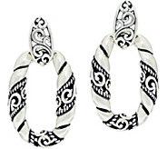 As Is Carolyn Pollack Sterl. SilverSignature Door Knocker Earrings - J333392