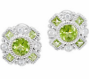 Judith Ripka Sterling Gemstone Button Earrings - J346792