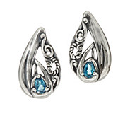 Carolyn Pollack Sterling Silver Pear Shape Gemstone Earrings - J347792