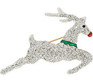 Joan Rivers Holiday Reindeer Pin with Pave - J349092