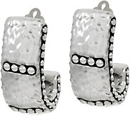 Simon Sebbag Sterling Silver Electroform Hammered Hoop Clip Earrings - J351092
