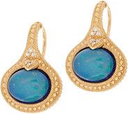 Judith Ripka 14K Gold Opal Doublet & Diamond Earrings - J352292